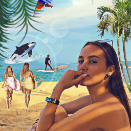 freetoedit beachview beachgirl surf