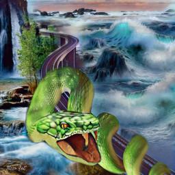freetoedit snake blurtool 3deffect waves ecgiantanimals