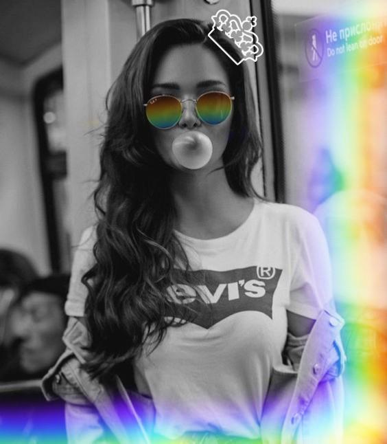 #freetoedit #rinbow #white #black #sunglasses
