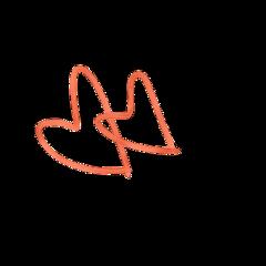 orange orangeheart hearts stickers orangesticker freetoedit