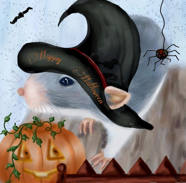 Getting in the Halloween  spirit lol