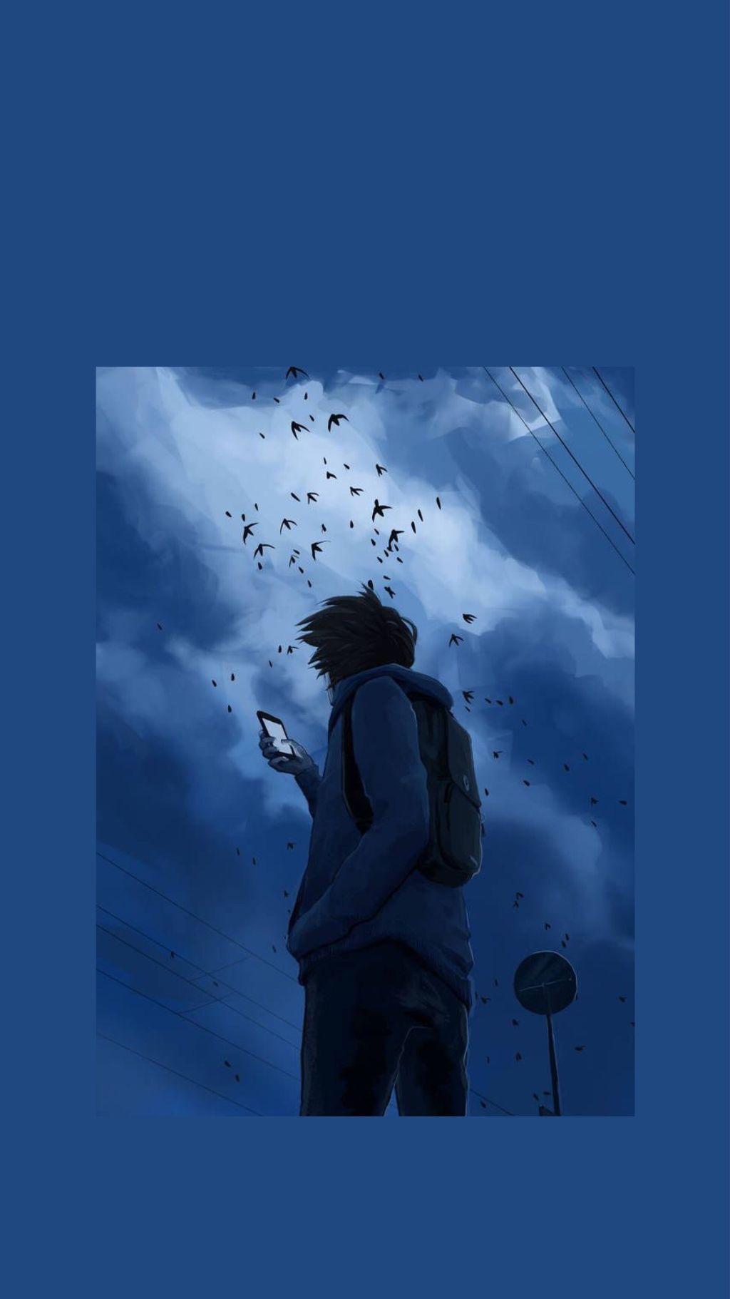 Art Wallpaper Lockscreen Sad Aesthetic Anime