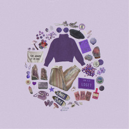 moodboard purple violet clothes fashion freetoedit