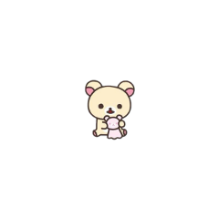 soft cute kawaii messy rilakkuma