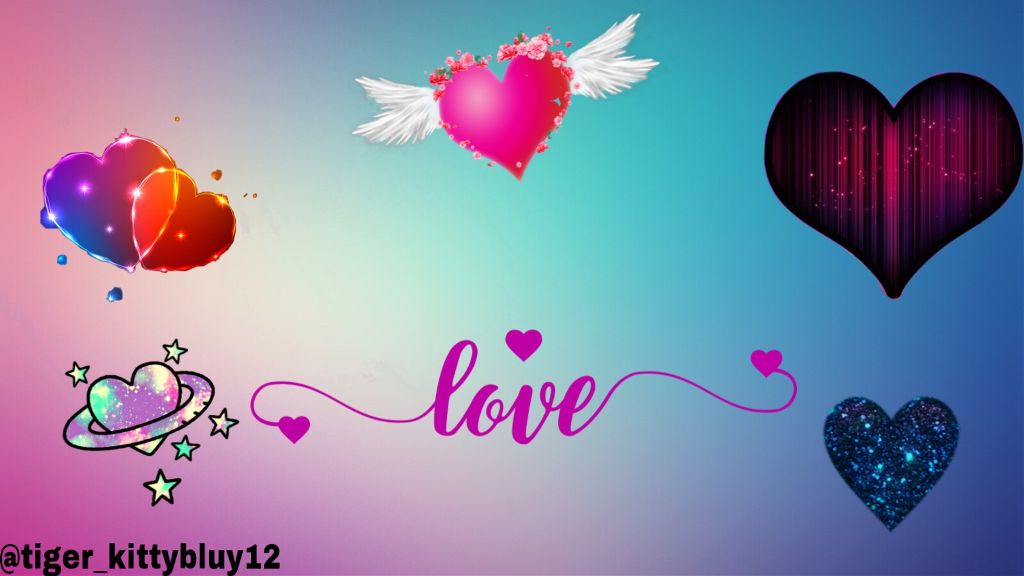 #freetoedit #hearts #colorfulbackground #love
