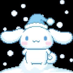 cinnamoroll cute sanrio cold winter freetoedit