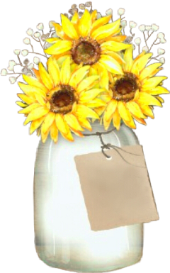 watercolor vase flowers sunflowers bouquet freetoedit