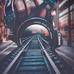 freetoedit lens camera train track