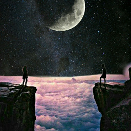freetoedit luna galaxy amor nuves
