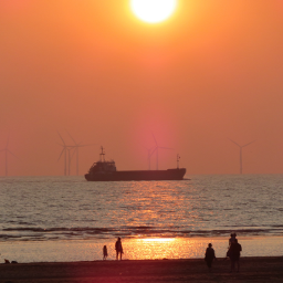 photography seascape sunset ship beach