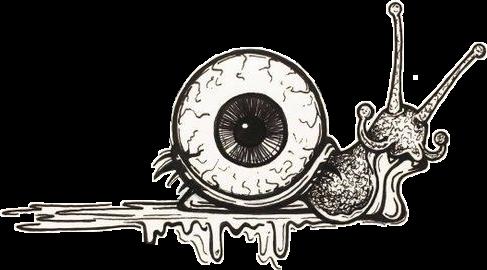 Snail Surrealistic Surrealism Eye Sticker By Vicky