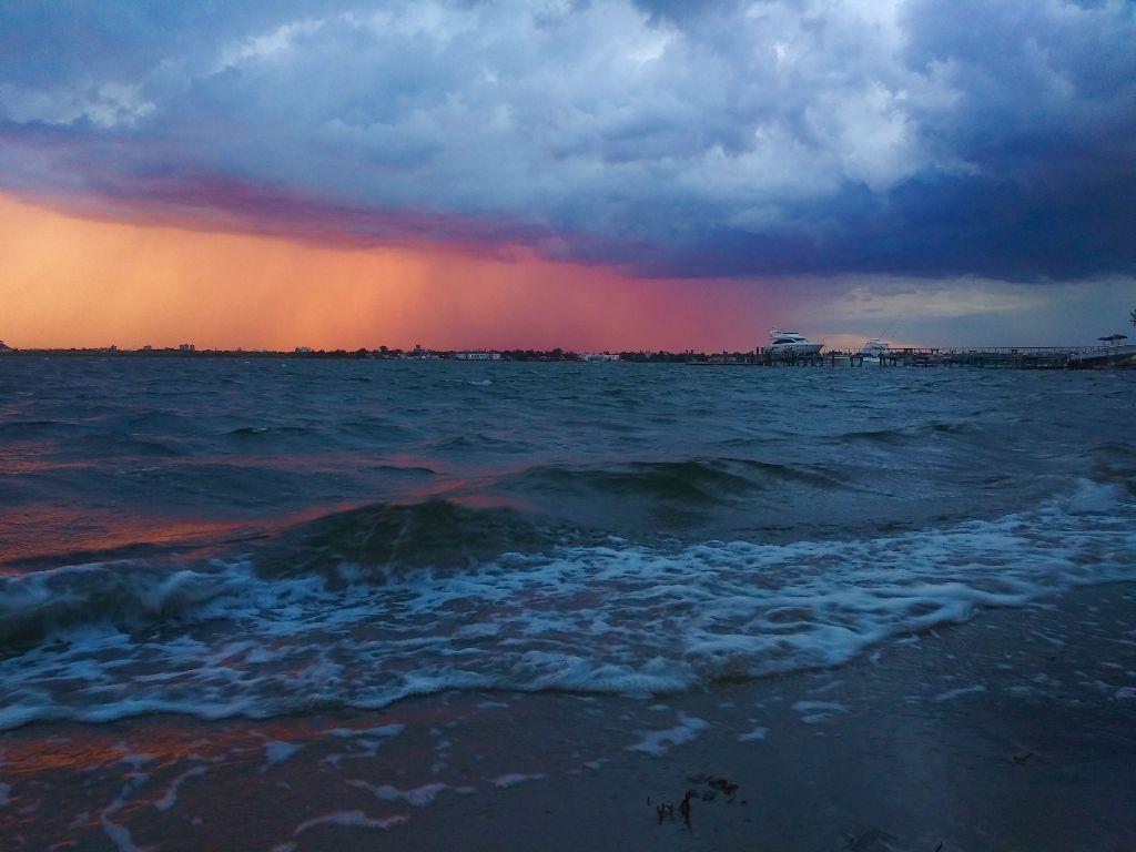 #hightide#sunset#storm#rain#orange#boat#clouds#shore#sea#neighborhood #freetoedit