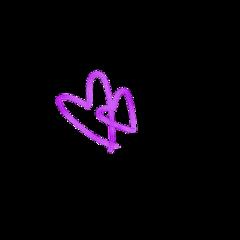 purpleheart heartsticker heartsdoublehearts purple cute freetoedit