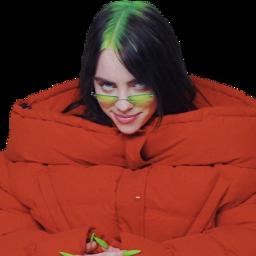 billie billieeilish eilish red green freetoedit