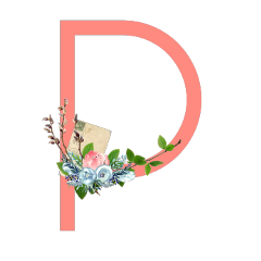 freetoedit p letter peach postcard