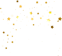 star stars gold confetti freetoedit