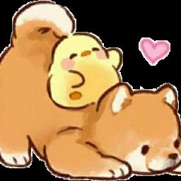 dog orange cute kawaii freetoedit scorange