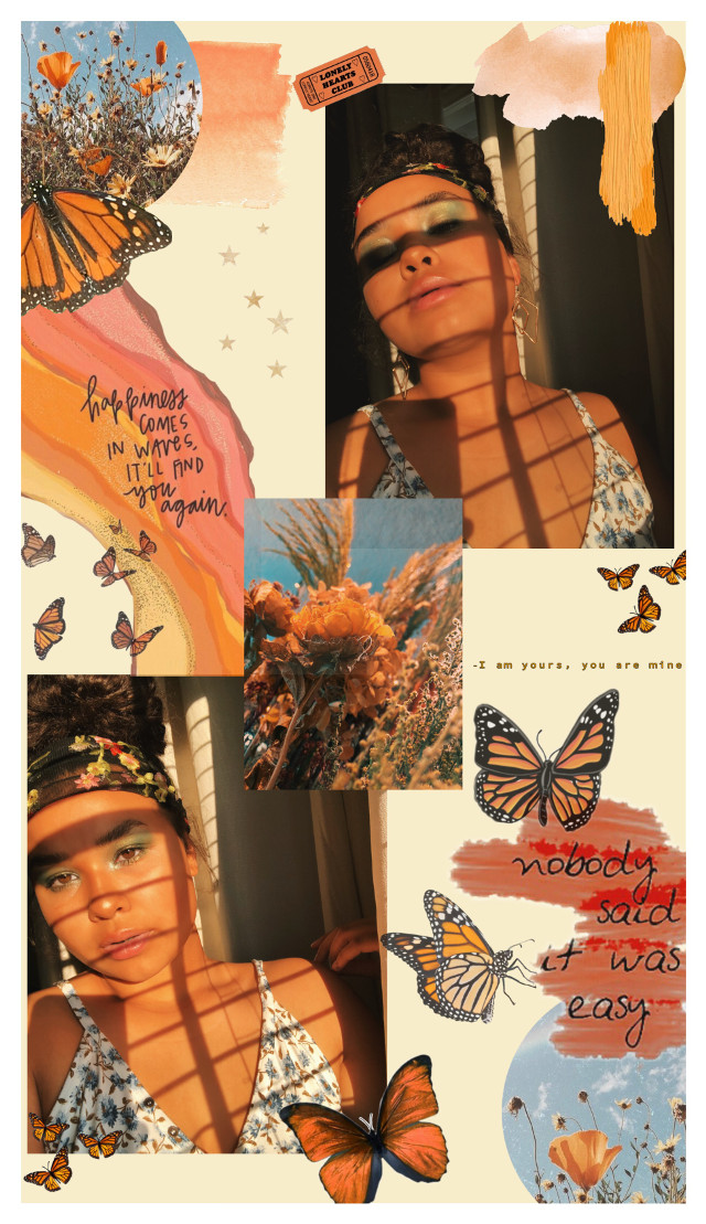 #freetoedit #floatlikeabutterfly #orange #aesthetic