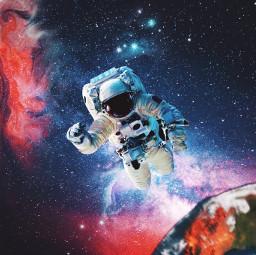 freetoedit remixit picsart space earth galaxy astronaut png blackhole stars sunset sunrise background edit photo milkyway color planet moon photoshop