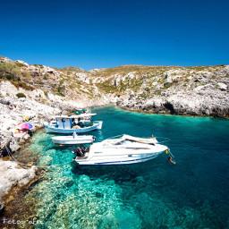 boat sea trasparent greece amazing