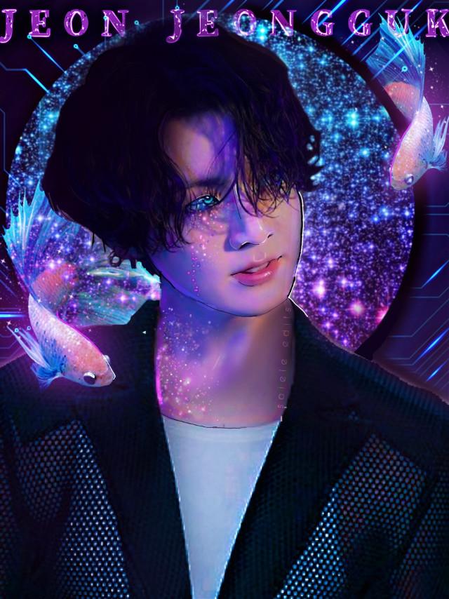 🐟  once again inspired by @kawaiinastia 💜  #bts #btsjungkook #jungkook #btsedit #aesthetic #btsarmy #kpop #kpopedit #purple #blue #fish #glitter #dark #contrast  Credit to ->