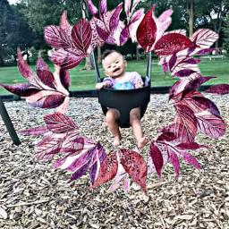 freetoedit leaves wreath aileen swing