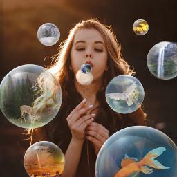 ircmakeawish makeawish freetoedit fish bubbles