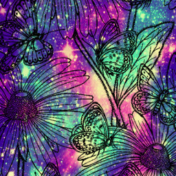 freetoedit glitter sparkle galaxy flowers