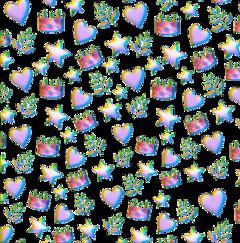 crown lilac heart star branch freetoedit