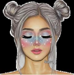 makeup colorful fille tumblr tumblrgirl freetoedit
