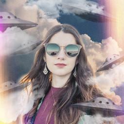 freetoedit ufo girl