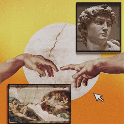 freetoedit art michelangelo aestheic collab