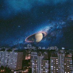 freetoedit fantasy city night planet