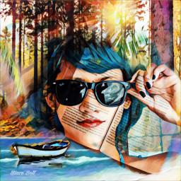 freetoedit doubleexposure forest boat woman ircbreaktime