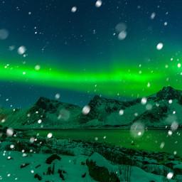ircmountains mountains freetoedit auroraborealis snow
