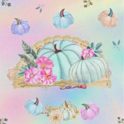 freetoedit pastels pumpkins fan remixed