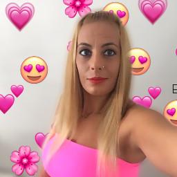 selfie portrait emojistickers pink freetoedit