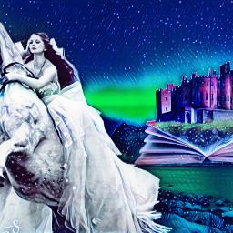freetoedit northernlights horsewoman horse whitehorse ircmountains