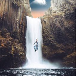 waterfall breathe feeltheenergy growth feeling freetoedit
