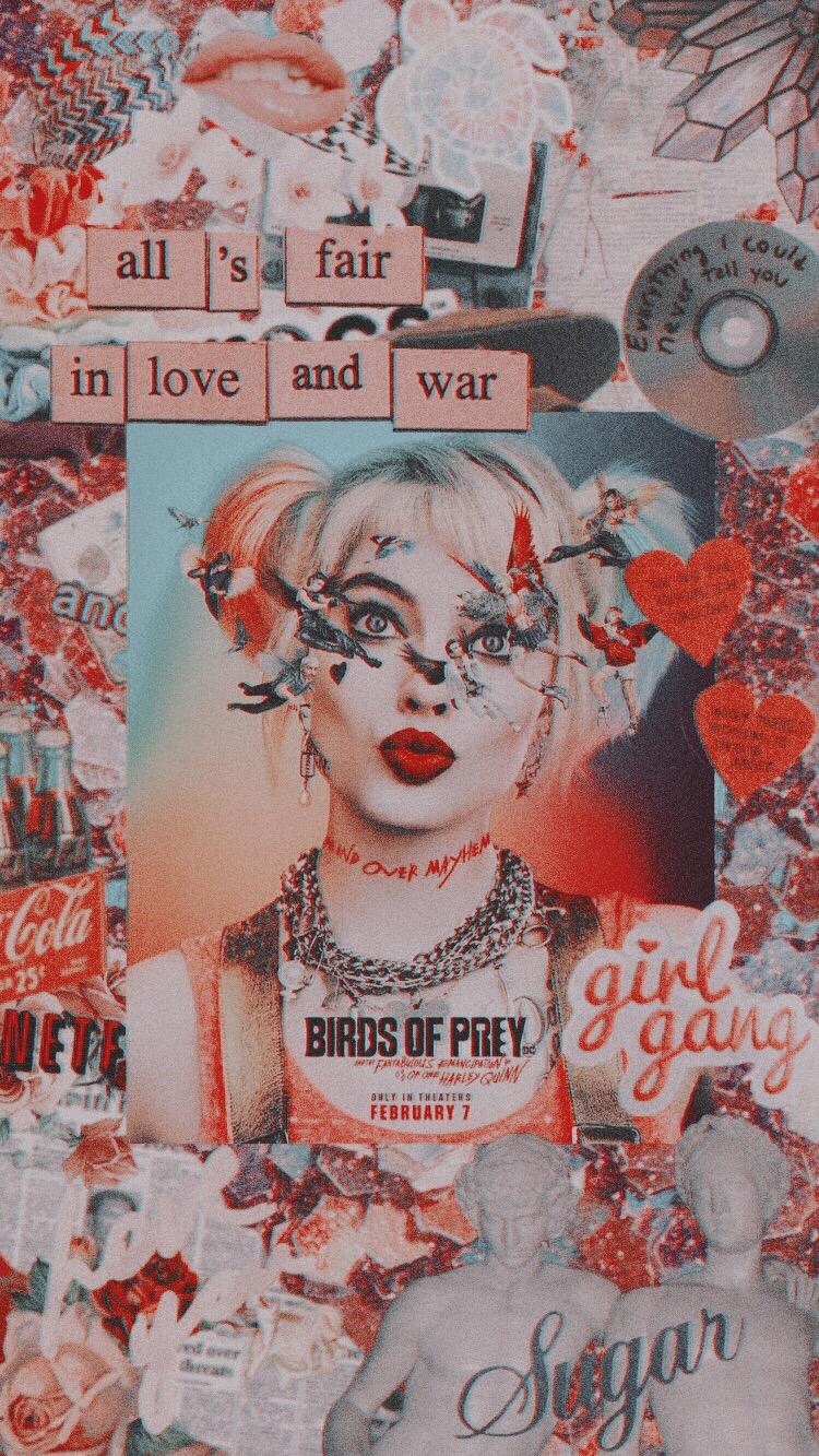 Aesthetic Harley Quinn Birds Of Prey Wallpaper