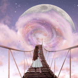 freetoedit doubleexposure surreal clouds moon