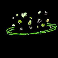 freetoedit ring green sparkle emoji