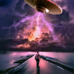 alien thunderstorm road boy conseptual freetoedit