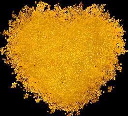 love heart gold colorsplash glitter. freetoedit