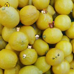 lemon yellow rilakkuma kawaiicute freetoedit