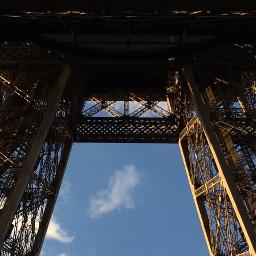 photography tower paris clouds sky freetoedit