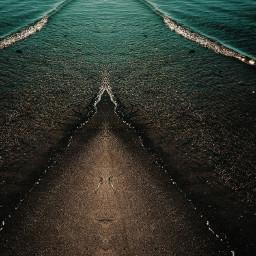 madewithpicsart mirroreffect sea seaside wave