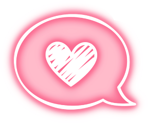 neon pink textbubble textmessage heart freetoedit