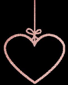love heart rosegold ribbon glitter freetoedit