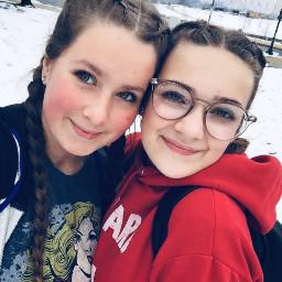 lovely snow bff friend cute freetoedit